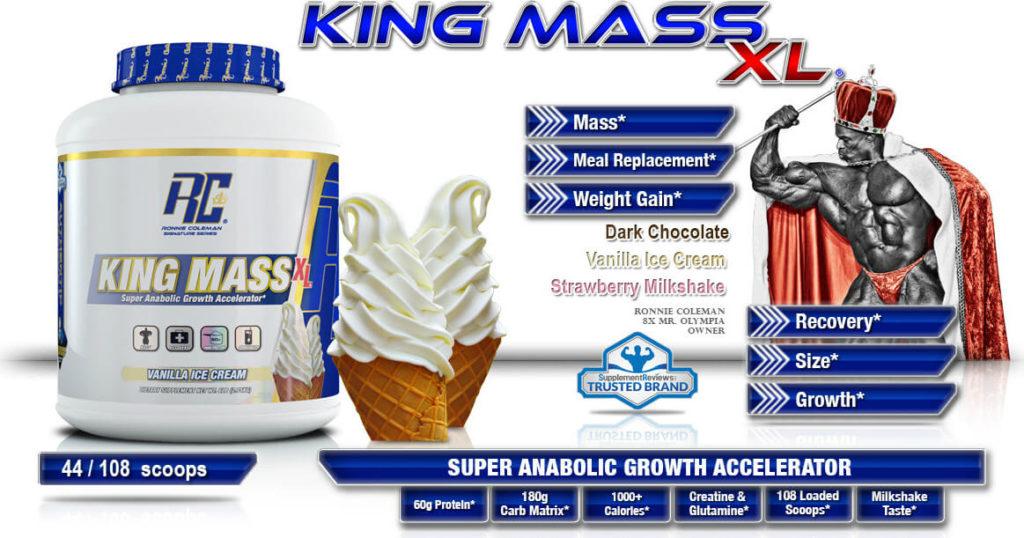 Ronnie Coleman King Mass XL + Free Shaker
