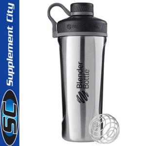 Blender Bottle Radian Stainless Steel Silver Shaker